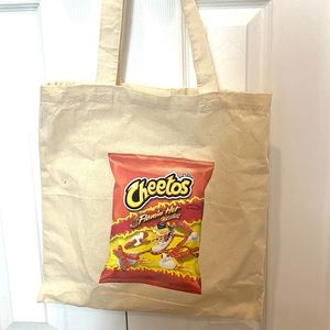 Cheetos Flamin Hot Graphic Lenin Bag reusable